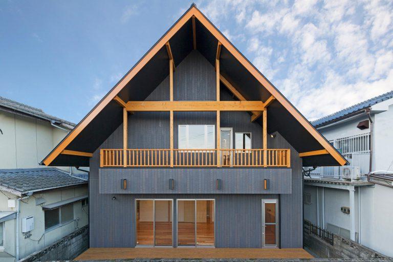 ログハウス風の家