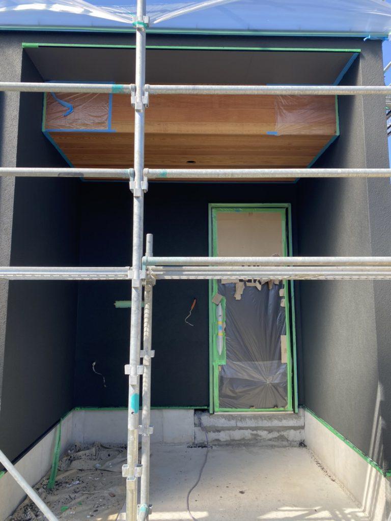H邸外壁塗り壁工事